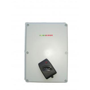 GSM сигнализация  АТ-550  (постановка в режим охрана/неохрана брелоками,4  зоны, дозвон и SMS сообщение при вторжении,3 номера дозвона записываются на SIM карту,источник бесперебойного питания с выходом для питания датчиков и сирены)